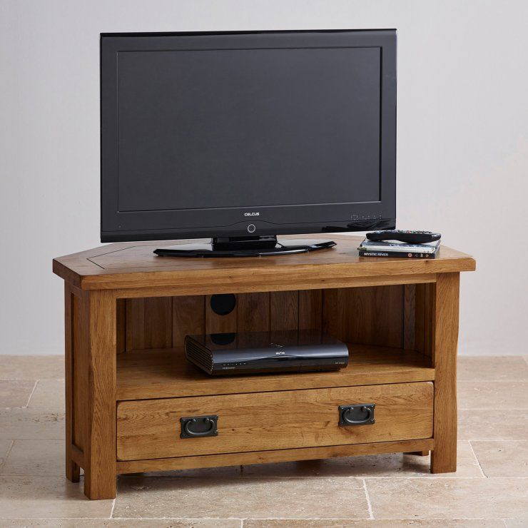 Original Rustic Solid Oak Corner Tv Cabinet Furniture Pinterest