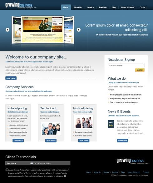 Growing Business XHTML Template - 6424 - Business - Website ...