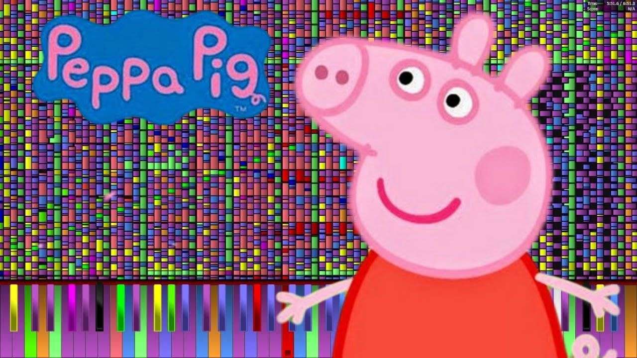 Impossible Remix Peppa Pig Theme Song Piano Cover Con Imagenes