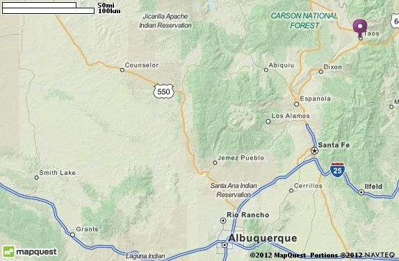 Taos, NM Map | MapQuest