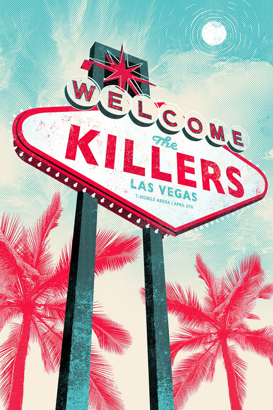 The Killers Tshirts Gigposters 2016 On Behance Rock