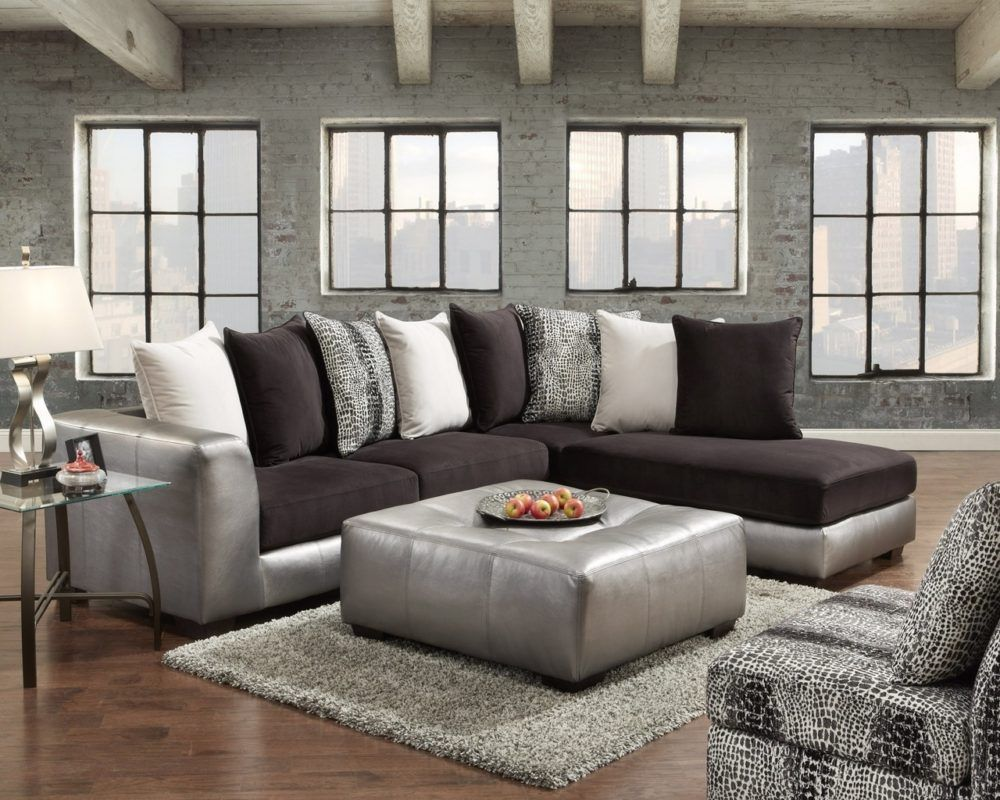 Black Silver Sectional Sofa Microfiber Sectional Sofa Sectional Sofa Brown Sectional Living Room