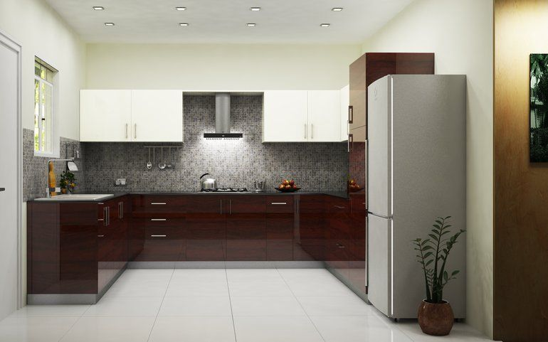 Phoenix Royal U Shaped Kitchen Dark Wood Cozy And Ultra Comfortable Feel Royalty Kitchen Modular L Shaped Modular Kitchen Kitchen Design Pictures
