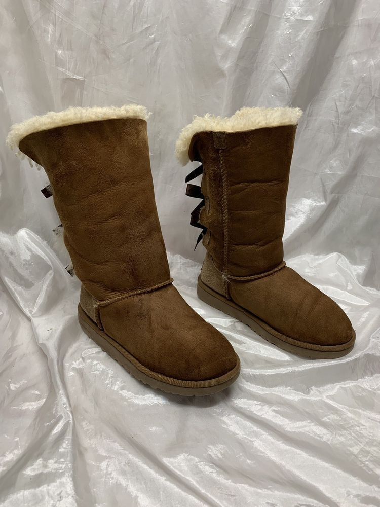 32d7cb6bf5c Authentic Ugg Tall Classic Bailey Bow Boots Tan Size 3 #fashion ...