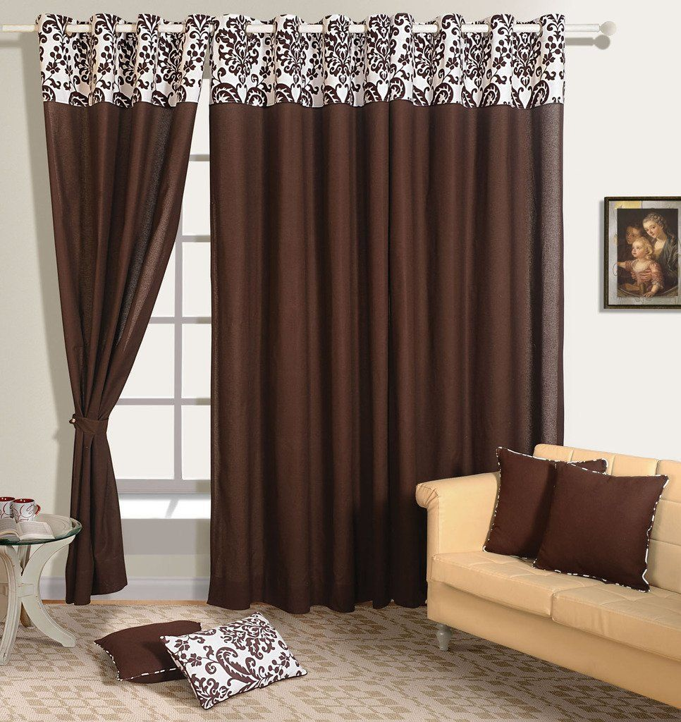 Yuga Home Decor Solid Pure Cotton Premium Eyelets Long Door Curtain 54 X 108 Inches 1pc Find Out More About Brown Curtains Solid Curtains Brown Living Room