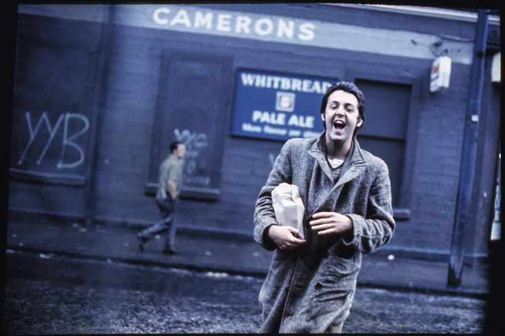 Paul McCartney at Liverpool in 1970, shot by his wife Linda.