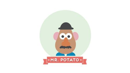Mr. Potato Head. Minimal Pixar and Disney Characters #minimalism