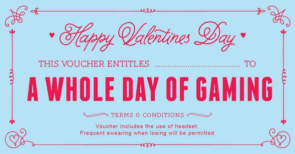 Free Printable Valentines Day Coupons Vouchers  Gift Giving
