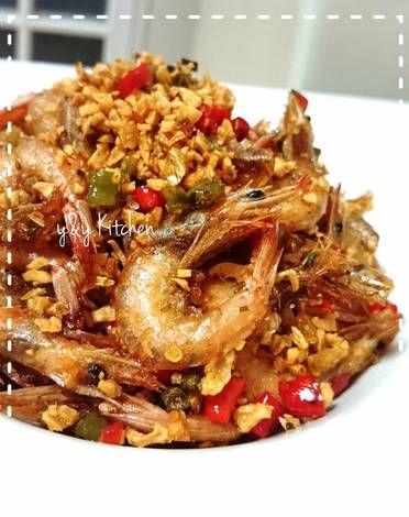 Resep Udang Goreng Cabai Garam Oleh Yny Resep Resep Udang Resep Makanan Cabai