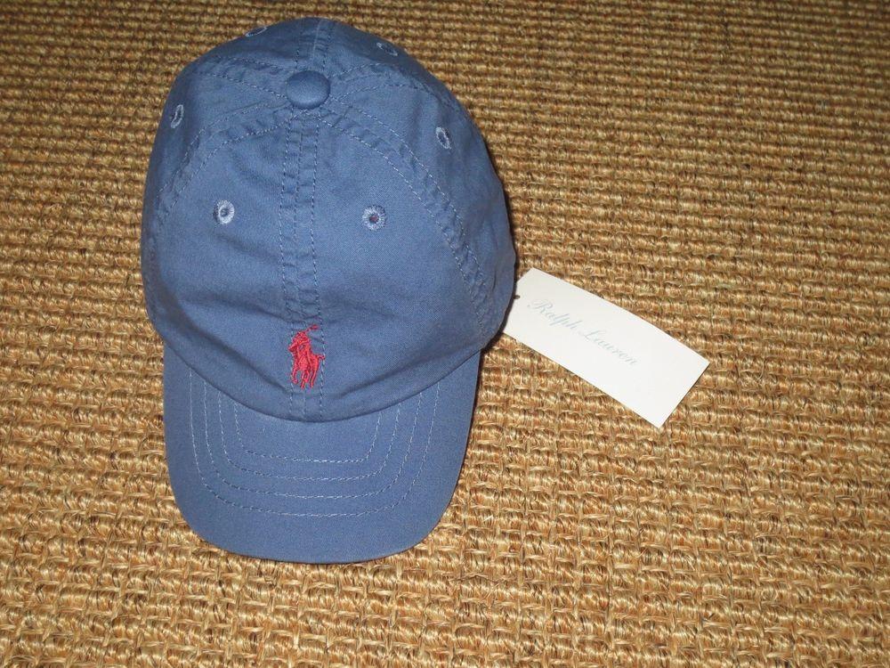 444daf6e8eb NEW POLO RALPH LAUREN BABY BOY BASEBALL CAP 9 - 24 MONTHS NWT BLUE   PoloRalphLauren