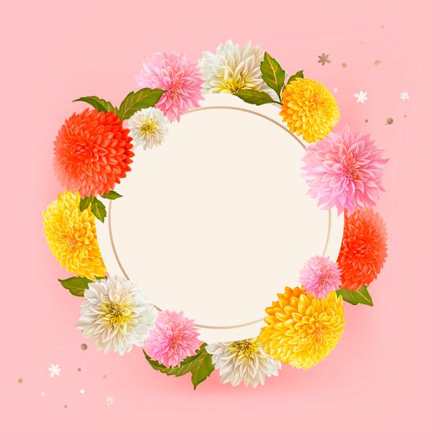 Download Floral Mockup Frame Illustration For Free In 2020 Flower Illustration Vector Free Floral Border Design