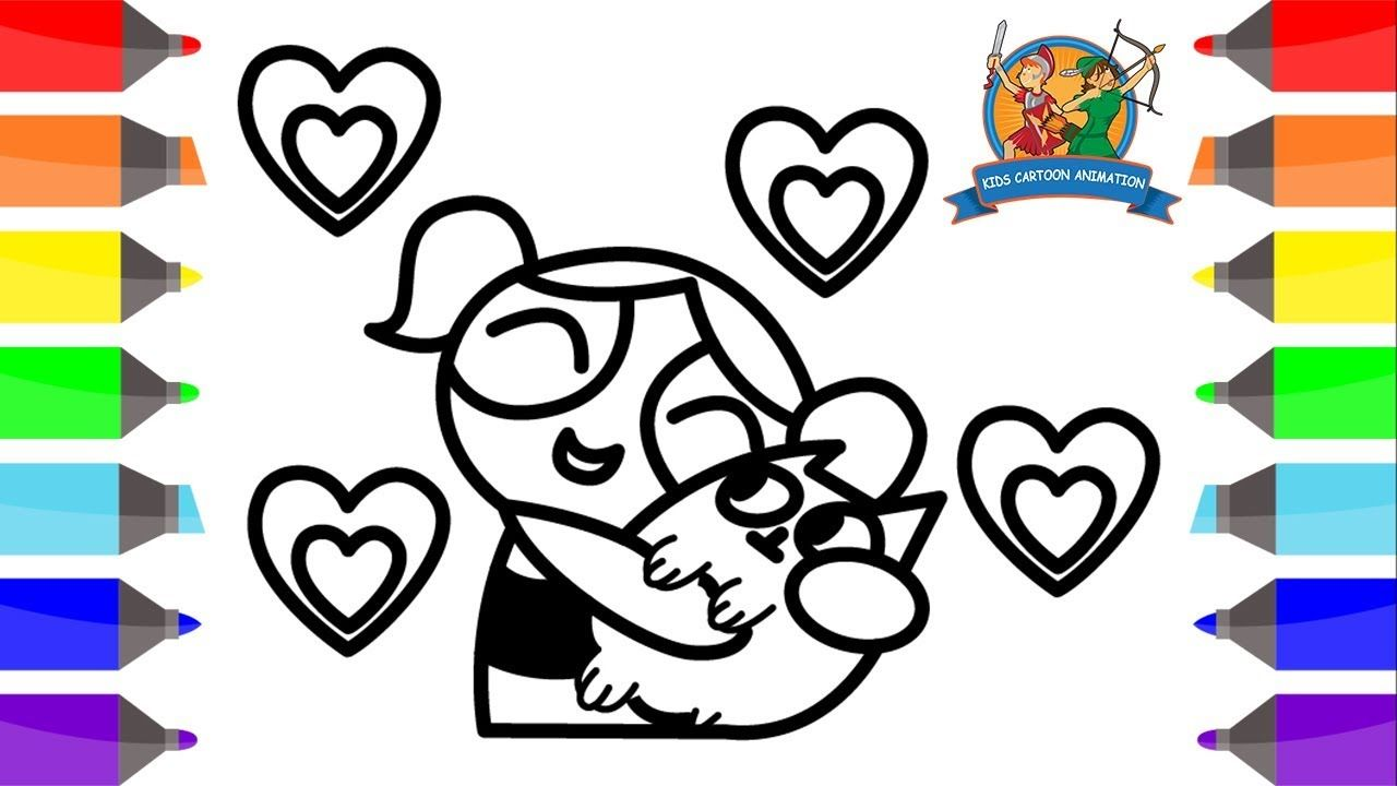 Bubbles & Kitten Love Coloring Pages | Powerpuff Girls | Kids ...
