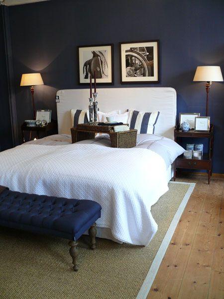 Blue Maritim Bedroom Wohnung Schlafzimmer Design Wohnen