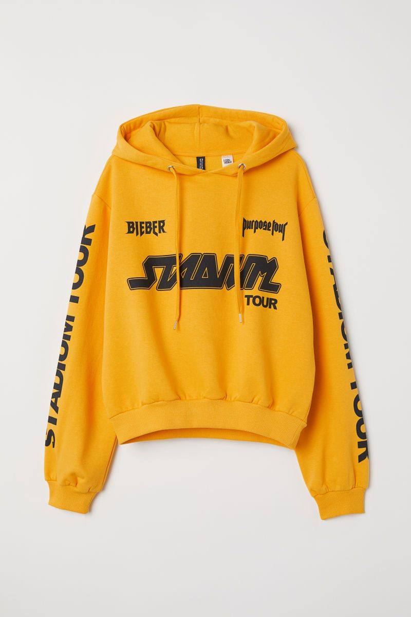 Short hooded top | YellowJustin Bieber | LADIES | H&M AU in