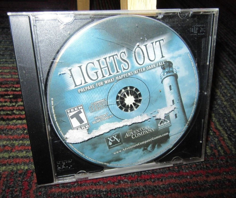 Details about LIGHTS OUT PC CD-ROM GAME, PREPARE AFTER DARK FALL