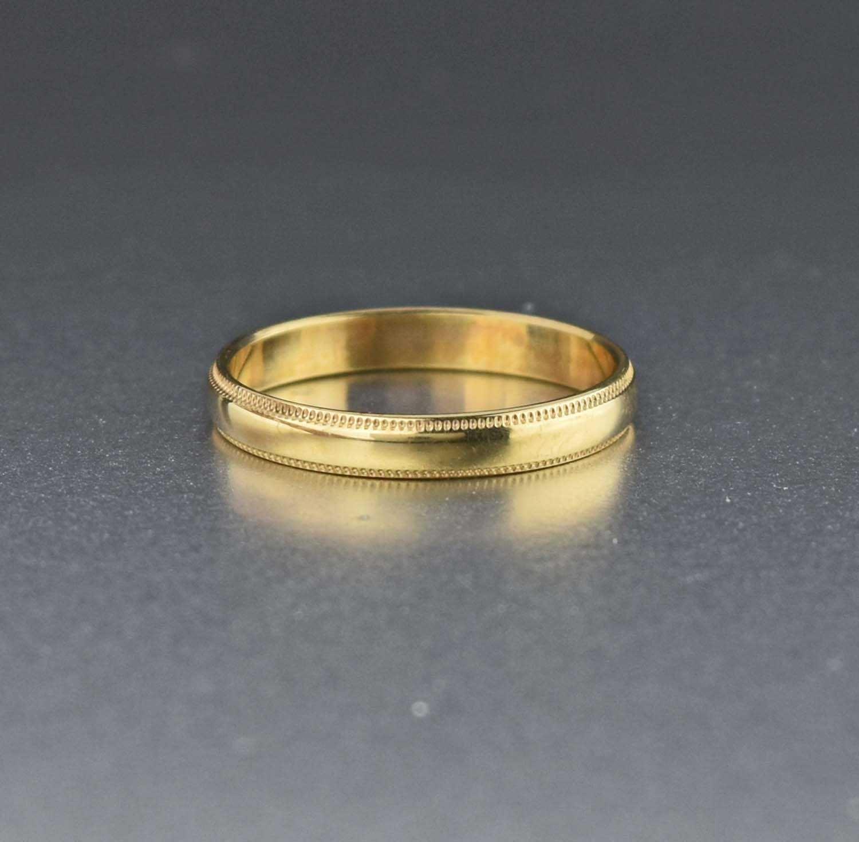Vintage 10k Gold Wedding Band Ring 1920s Antique Wedding Ring Bands Gold Wedding Band Antique Jewelry