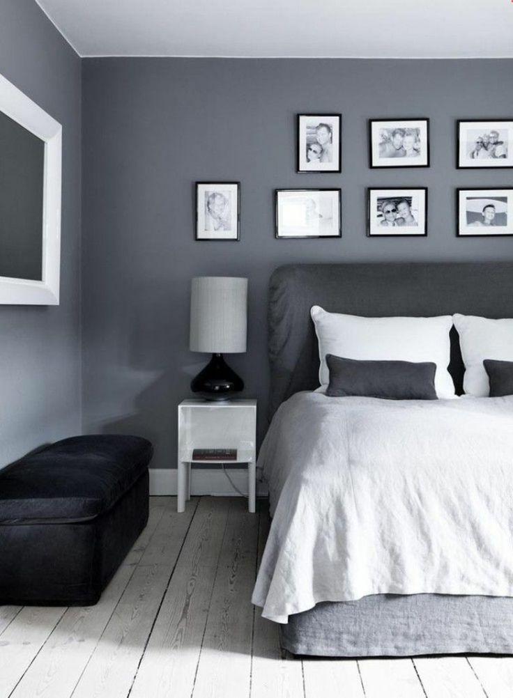 Graue Schlafzimmer Wandfarbe in 100 Beispielen - Schlafzimmer ♡ Wohnklamotte - #Beispielen #graue #Schlafzimmer #Wandfarbe #Wohnklamotte #bedroomideasforsmallroomsforcouples