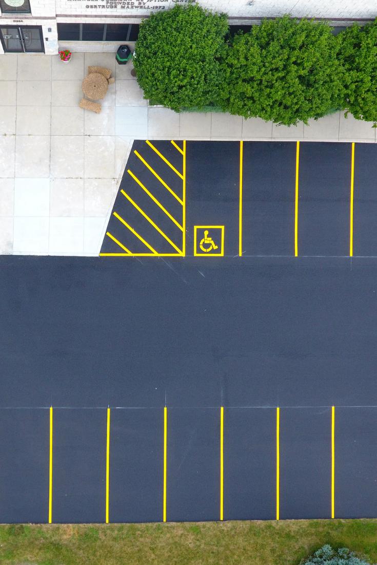 Rose Paving Pavement Marking Services Parking Design Parking Lot Striping Parking Lot Architecture