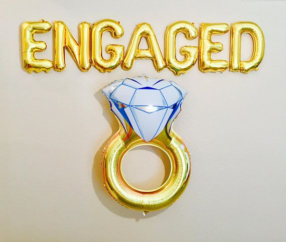 Engaged Balloon Engaged Banner Engagement Party Balloons Engagement Party Decorations Engagement Party Balloons Engagement Party