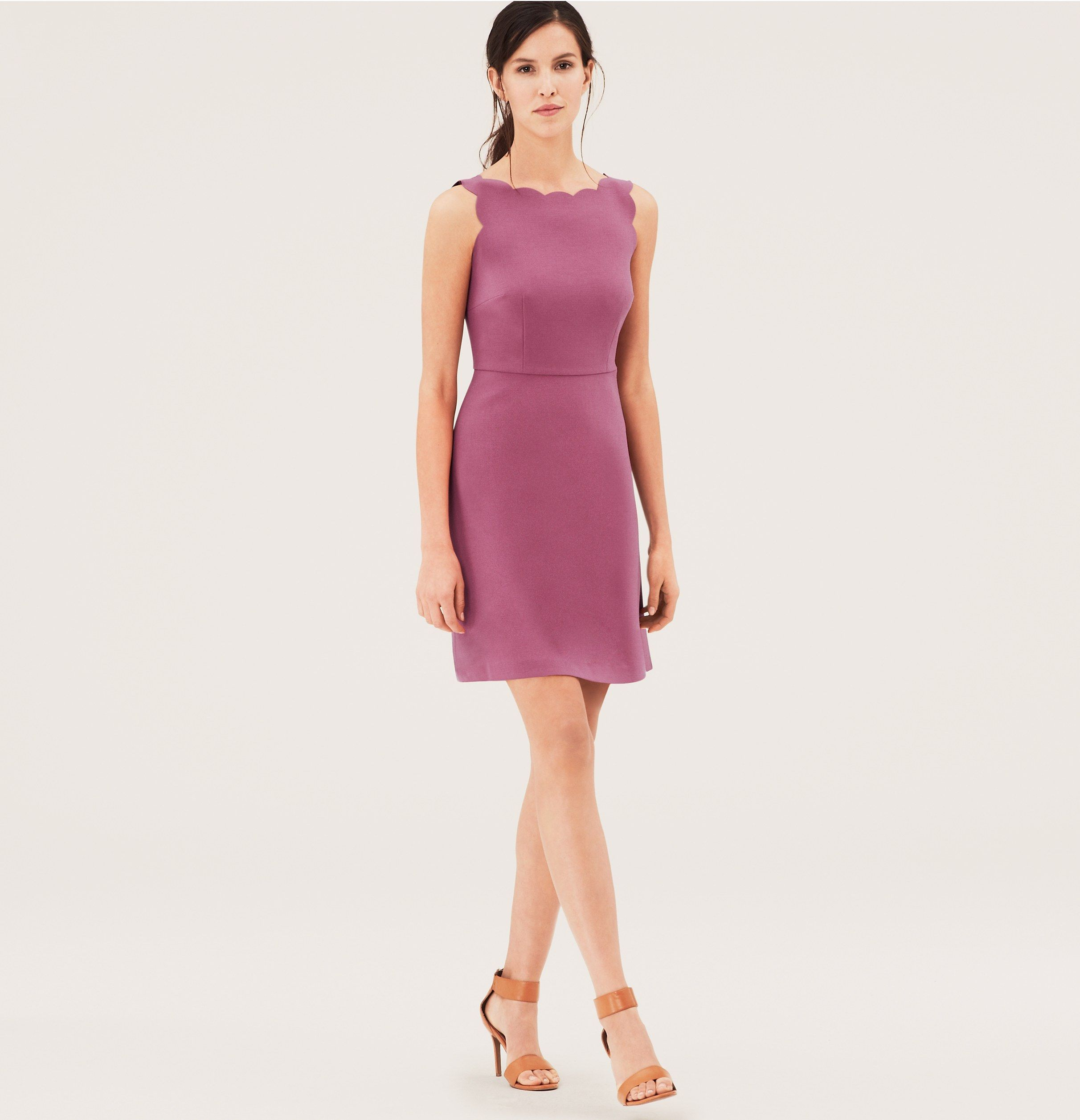 Scallop Bodice Dress | Loft | Dresses | Pinterest | Bodice, Rebel ...
