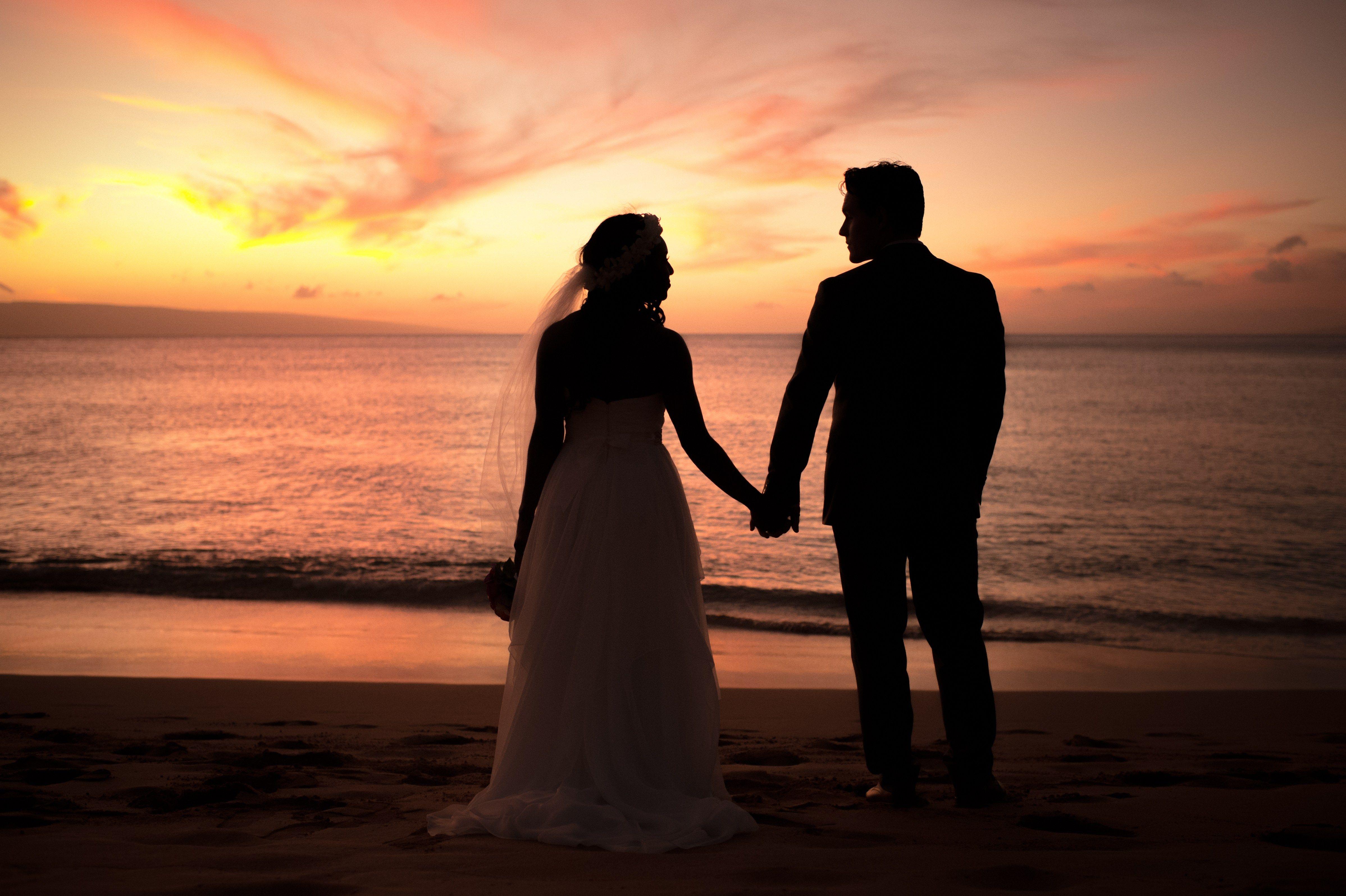 Sunset, Maui, Hawaii Westin Hotel Interracial Couple Love