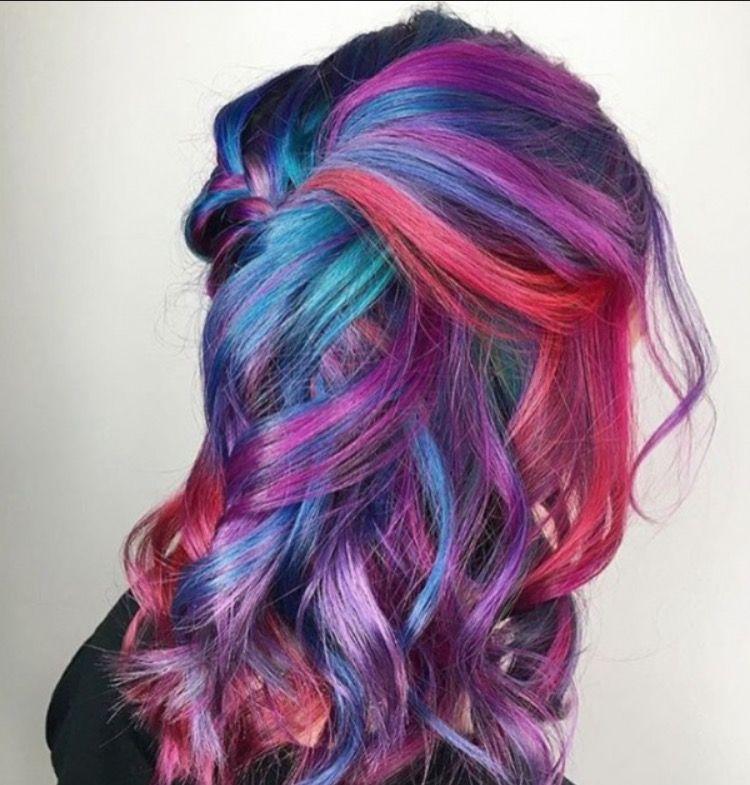 amazing rainbow hair love