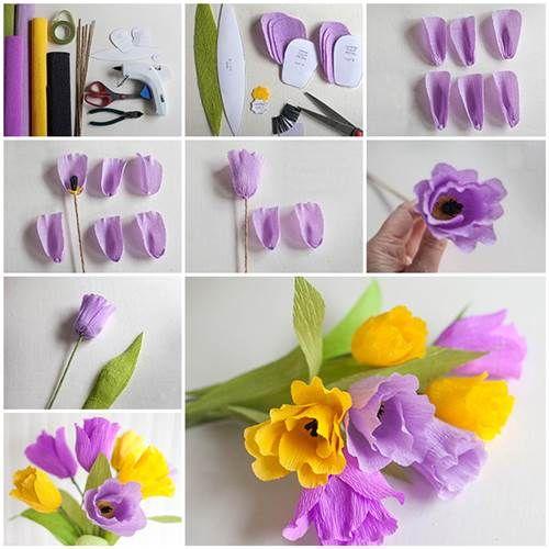 How to make beautiful crepe paper flowers crepe paper flowers how to make beautiful crepe paper flowers icreativeideas like us on facebook httpsfacebookicreativeideas mightylinksfo