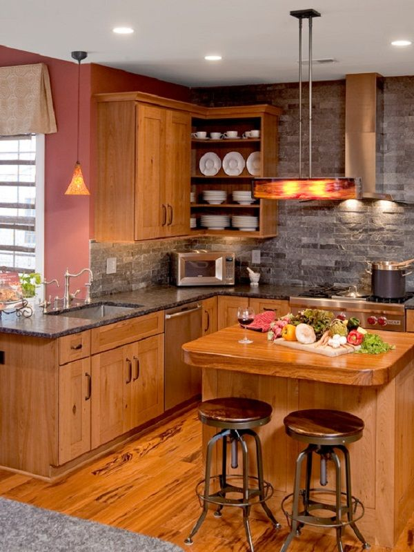 Kitchen Awesome Apartment Kitchen Design With Wall Stone And Gorgeous Designs For A Small Kitchen Design Inspiration