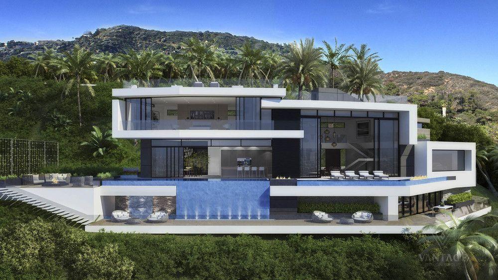Maison ultra moderne façade spectaculaire | Architecture ...