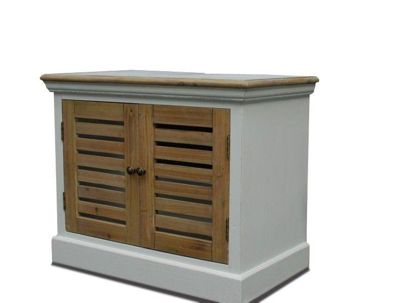 Hängeschrank Burgund - Antik Look - weiß graubeige - lackiert - badezimmer kommode holz