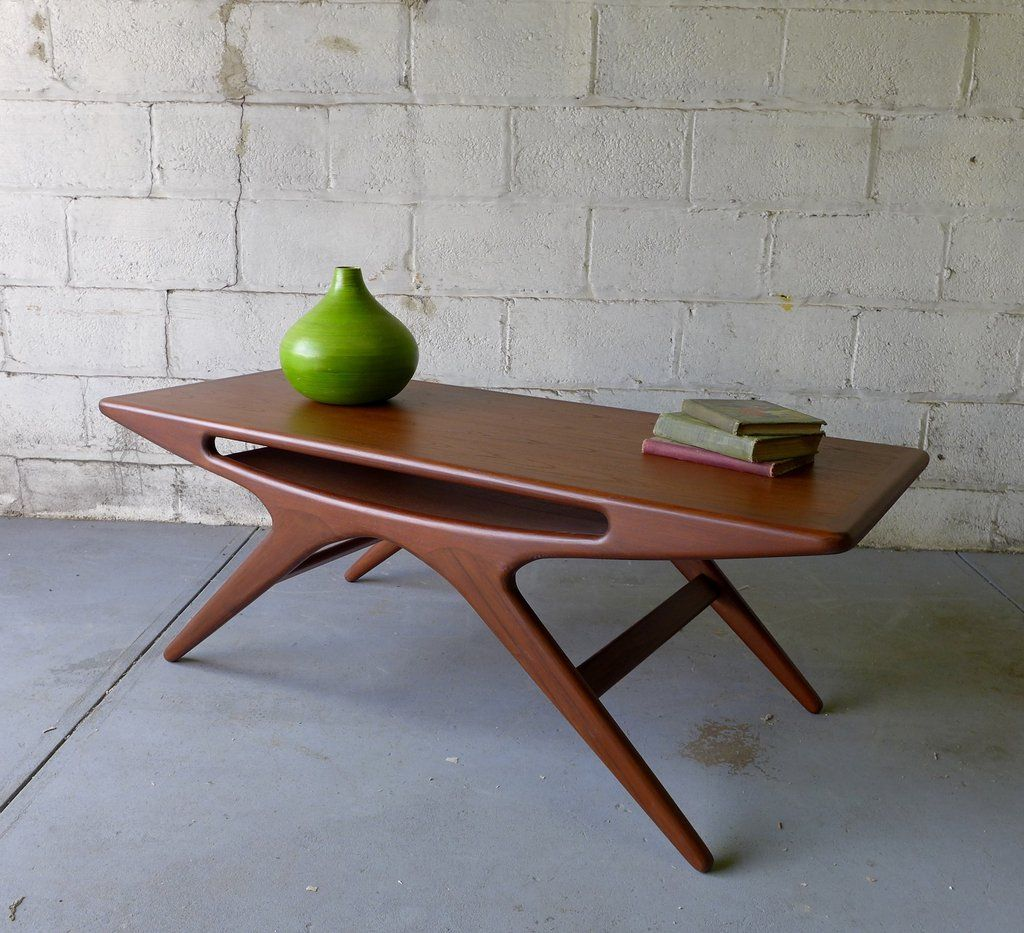 Teak mid century modern styled coffee table for the home