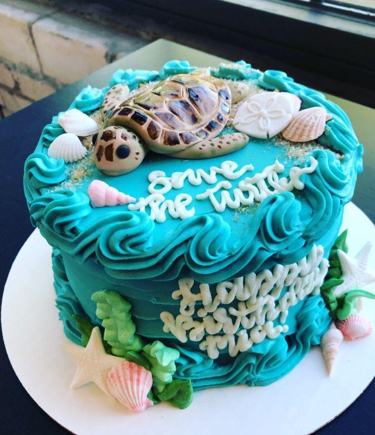 Awe Inspiring Save The Turtles Turtle Birthday Cake Turtle Birthday Party Funny Birthday Cards Online Inifofree Goldxyz