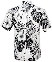 Pacific Legend - Hibiscus Passion - Mens Hawaiian Aloha Shirt - White
