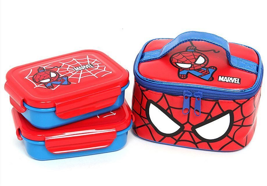 57139d30ae76 Details about Marvel Spider man Lunch Box Bag Bento School Meal Time ...