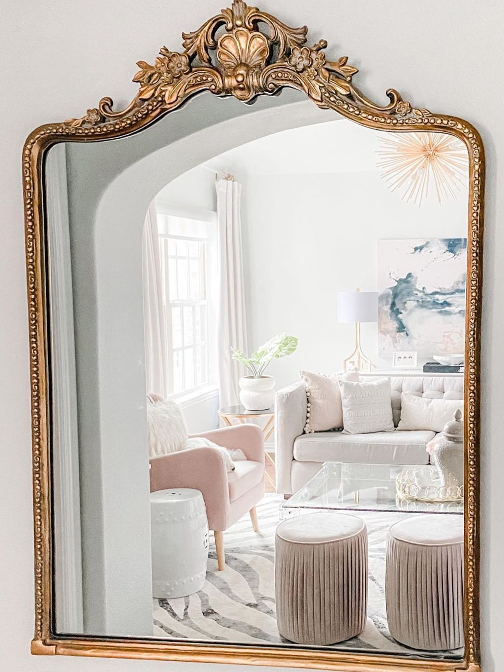 36 Glam Mirrors Sorted By Style That You Must See In 2020 Mirror Wall Living Room Wall Mirror Decor Living Room Fall Living Room Decor