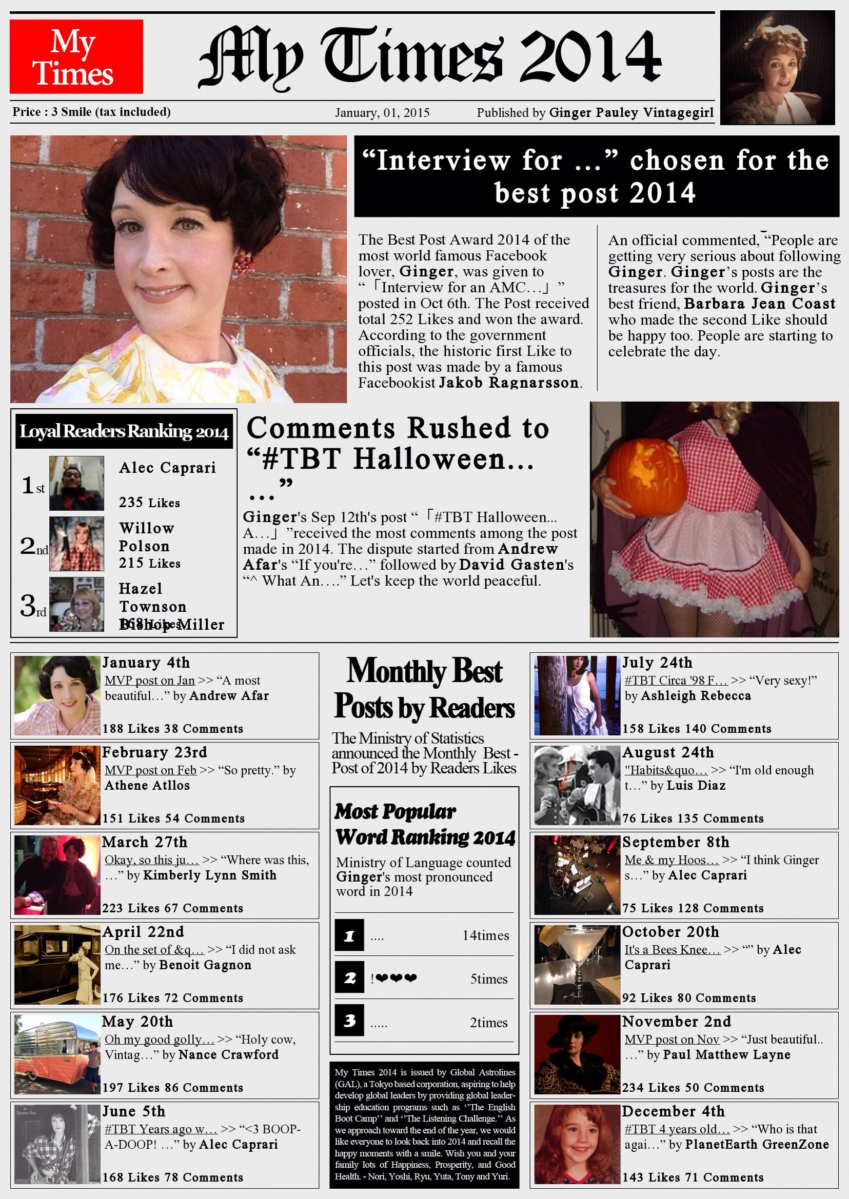 My Times 2014! These are lots of fun!