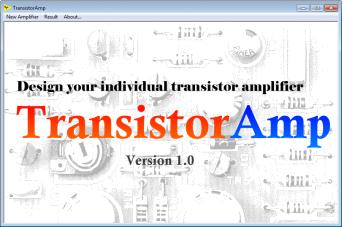 transistoramp, a transistor amplifier design software