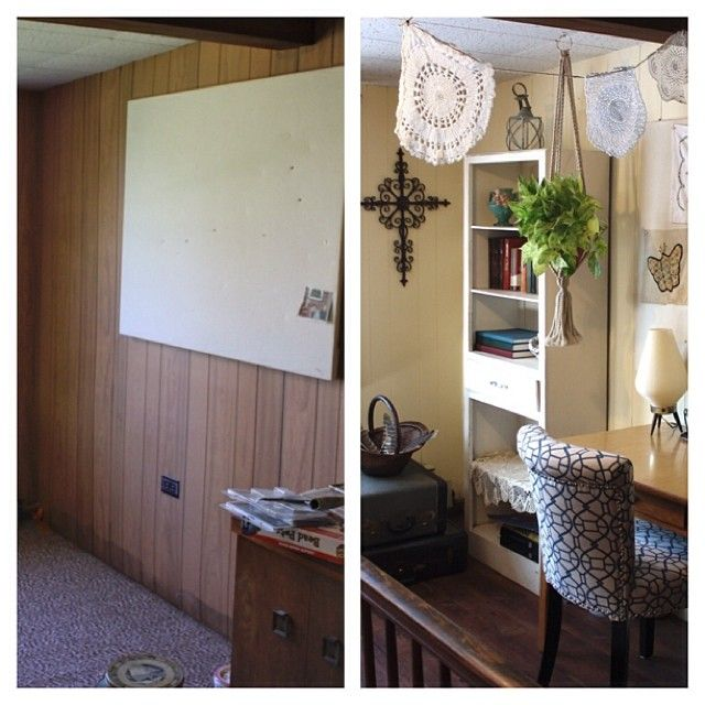 Space at the top of our stairs that  made into  grandma chic home office also best images workplace rh pinterest