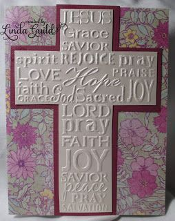 Image result for Darice cross with script embossing folder
