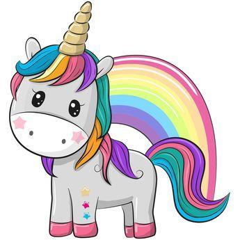 Unicorn Rainbow Iron On Transfer Dibujos De Unicornios