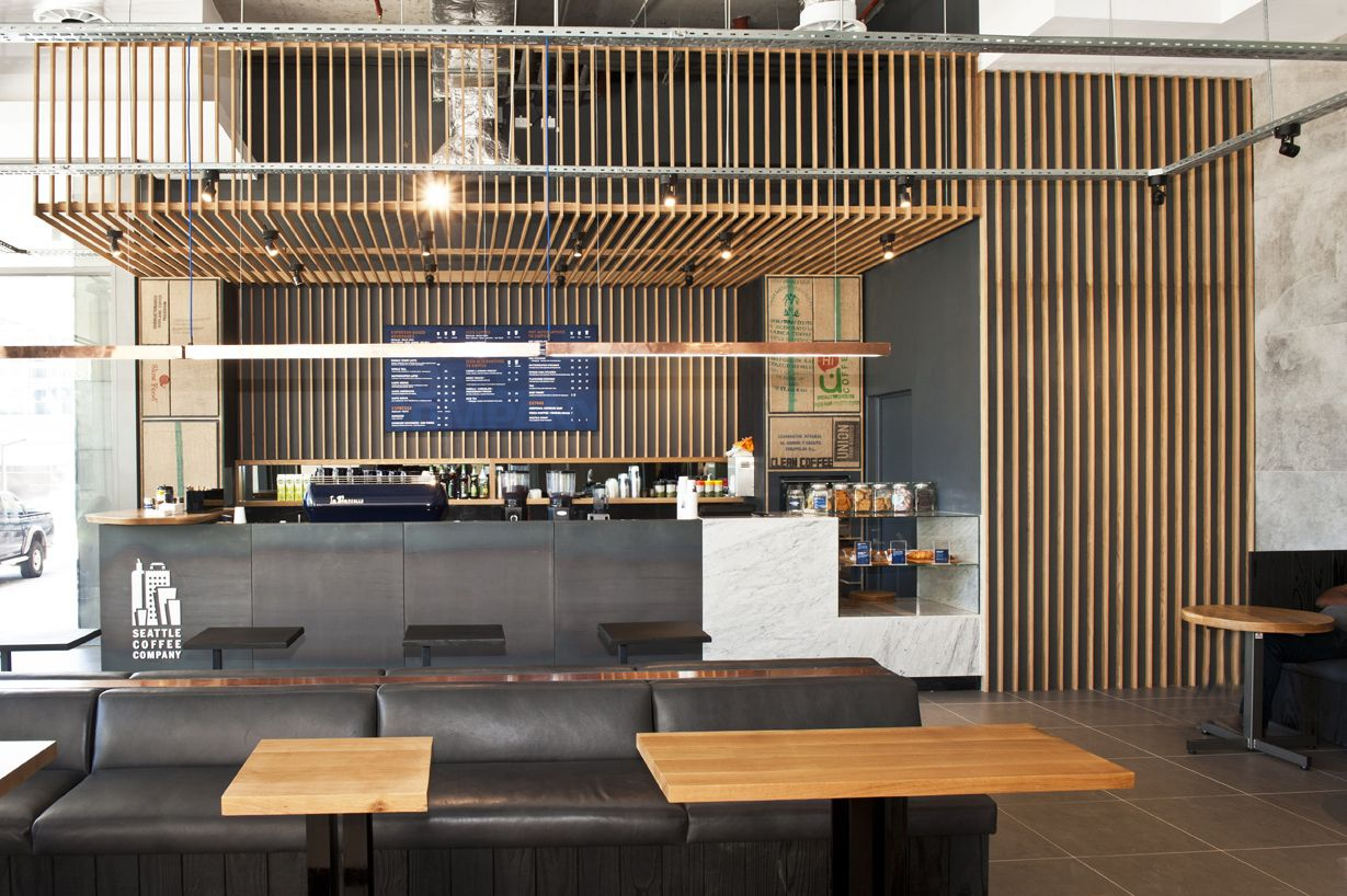 Retail store build for Seattle Coffee in Century City Cape