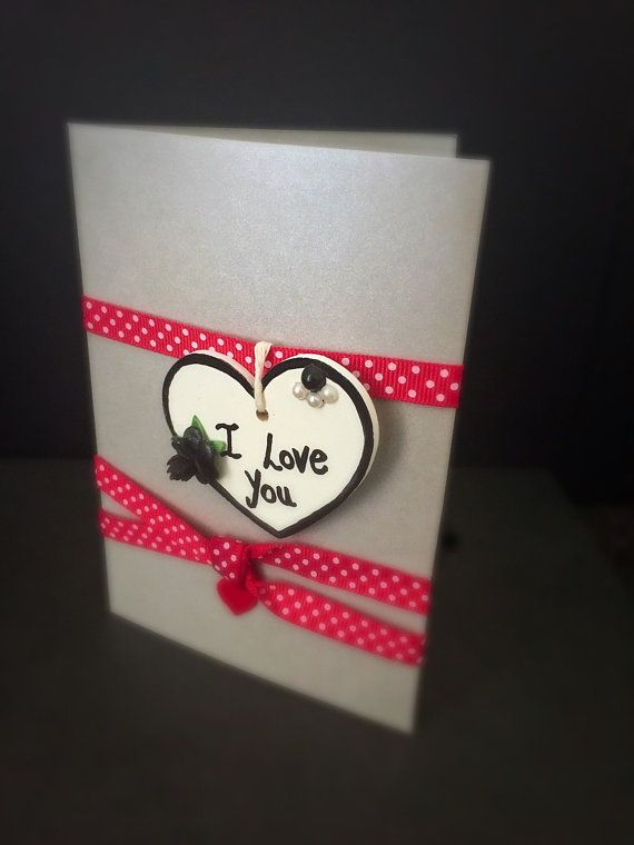 Valentines Card with Wooden Heart keepsake by LovelyToGreetYou