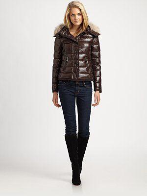 Moncler - Fur Trimmed-Hood Jacket - Saks.com