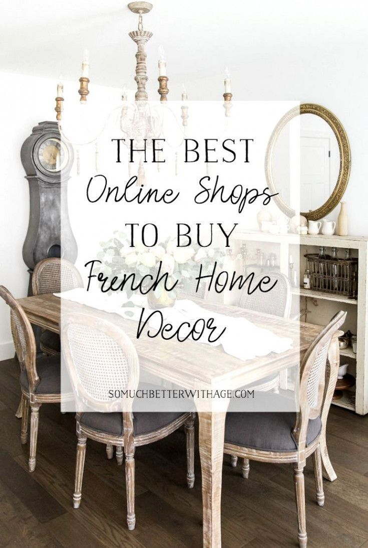 Finding French items for the home can be difficult and expensive. This list for finding the best online shops that carry French home decor is perfect! #frenchvintage #homedecor #HomeAccessories