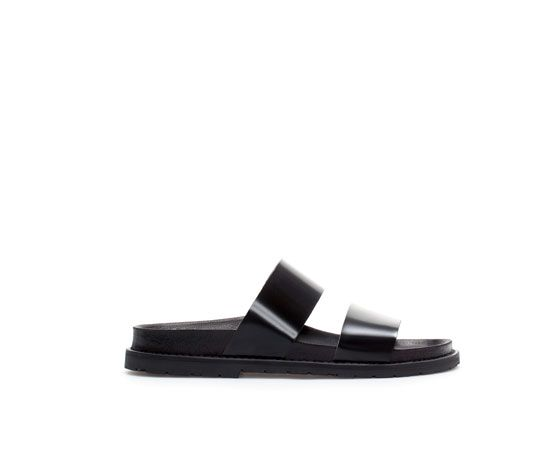 Image 1 of SANDALS WITH STRAPS from Zara | Ledersandalen