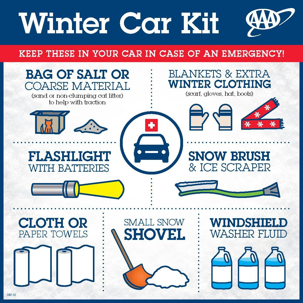 Winter Car Kit from AAA - Keep these items in your car in ...
