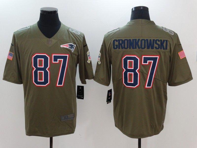 Men New England Patriots 87 Gronkowski Nike Olive Salute To Service Limited  NFL Jerseys 7b0745622