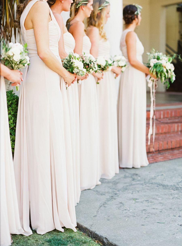 English Garden Style Wedding In California English Garden Style Ivory Bridesmaid Dresses Garden Styles [ 1214 x 900 Pixel ]