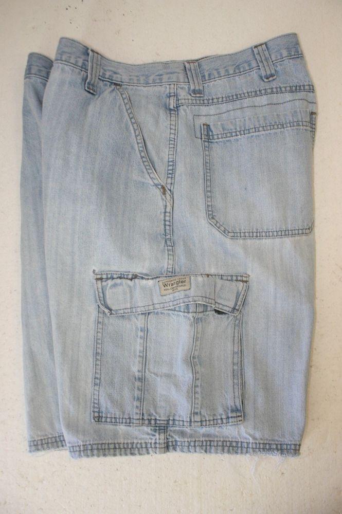 da168efd67 Wrangler Authentic Ranch Hands Blue Denim Cargo Shorts Mens 34 Zipper Jargo  2858 #Wrangler #CargoShorts #Jargo