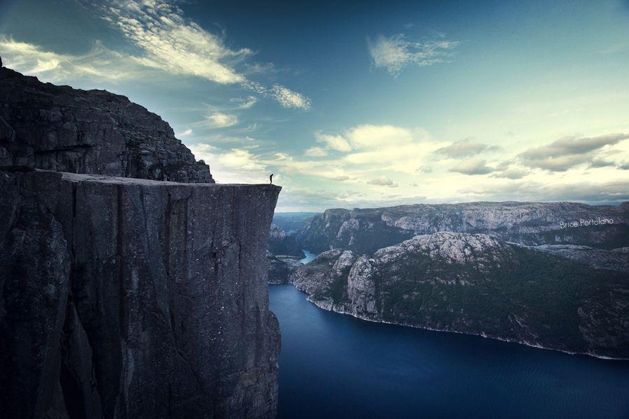 Where you get to know yourself | Preikestolen cliff, 604 meters Telemark Fylke, Norway
